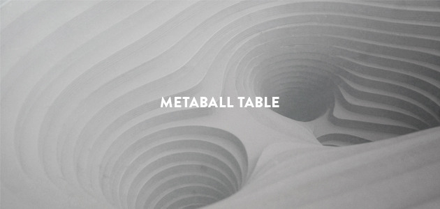 Metaball Table