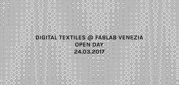 Digital textiles@Fablab Venezia Open Day