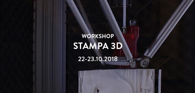 Workshop di Stampa 3D – ottobre 2018
