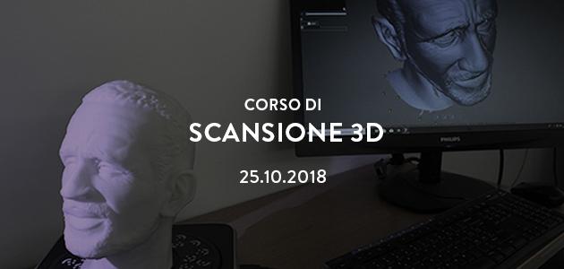 Workshop di scansione 3d – ottobre 2018