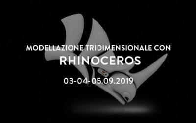 Corso di modellazione 3D con Rhinoceros – estate 2019