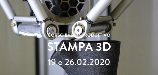 Stampa 3d / corso base introduttivo – 19 e 26.02.2019