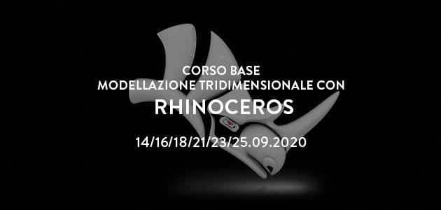 Corso base di modellazione con Rhinoceros | ULTIMI POSTI SCONTATI | settembre 2020