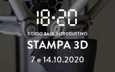 Stampa 3d / corso base introduttivo – 7 e 14 ottobre 2020