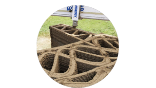 Fabbricazione digitale sostenibile: costruzioni, cemento, materiali